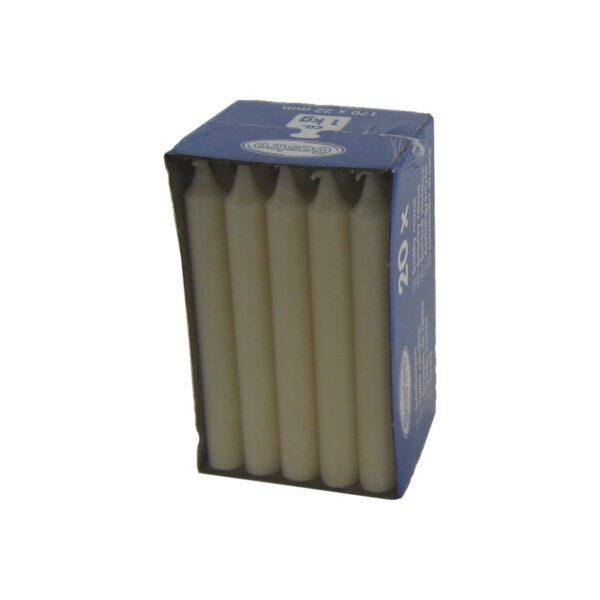 Sviečka rovná 170 mm béžová [20 ks]