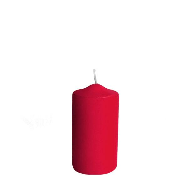 Sviečka valcová ø 40 x 80 mm červená [4 ks]