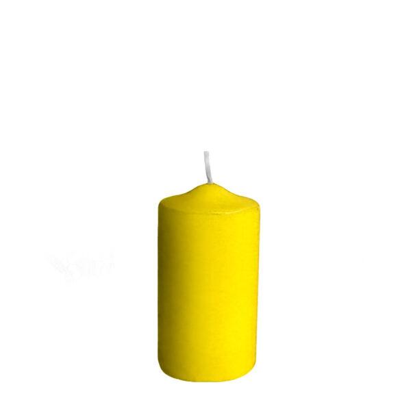 Sviečka valcová ø 40 x 80 mm žltá [4 ks]