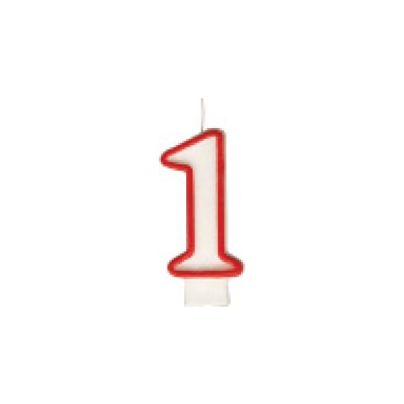 "Číslová sviečka ""1"" 75 mm [1 ks]"
