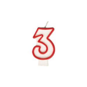 "Číslová sviečka ""3"" 75 mm [1 ks]"