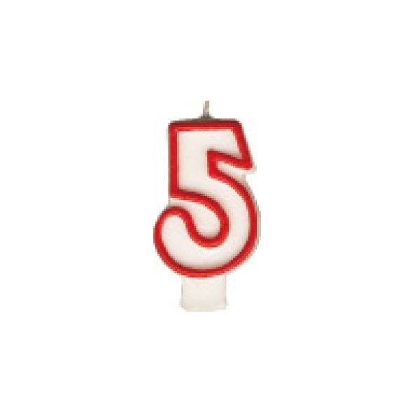 "Číslová sviečka ""5"" 75 mm [1 ks]"