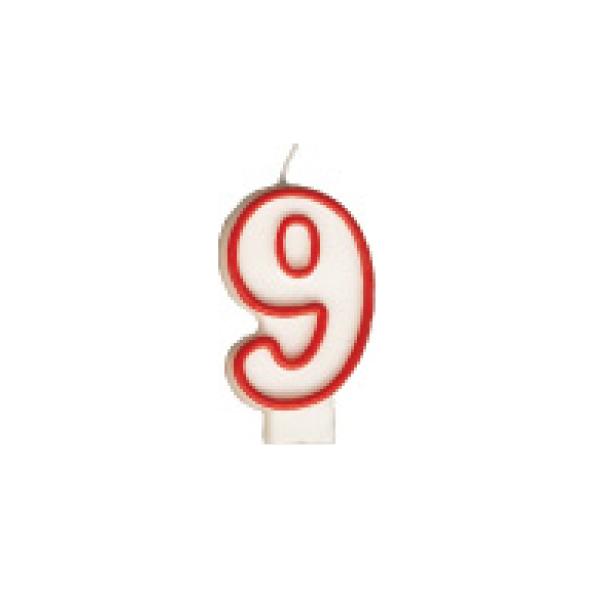 "Číslová sviečka ""9"" 75 mm [1 ks]"