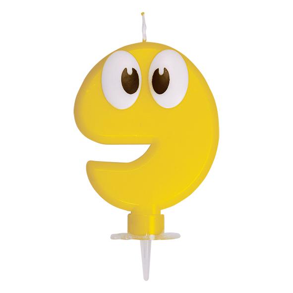 """Číslová sviečka so stojančekom """"9"""" 80 mm [1 ks]"""