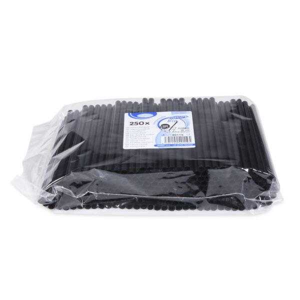 Slamky koktejlové JUMBO čierne (PLA) -BIO- 15 cm, ø 8 mm [250 ks]