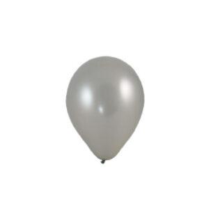 """Nafukovacie balóniky strieborne """"M"""" [100 ks]"""