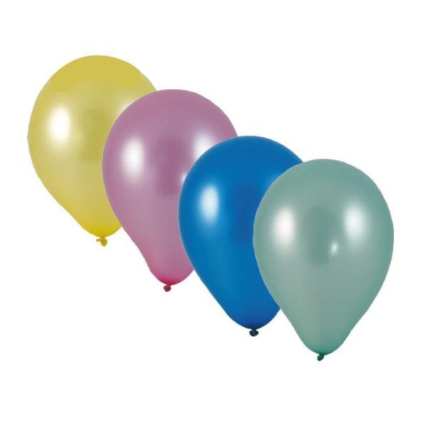"Nafukovacie balóniky metalíza mix ""M"" [10 ks]"
