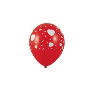 """Nafukovacie balóniky """"Biele srdiečka"""" """"L"""" [5 ks]"""
