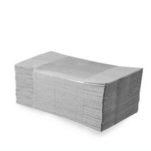 Papierové uteráky skladané ZZ, 25 x 23 cm, natural [5000 ks]