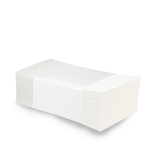 """Uteráky tissue ZZ """"V"""", 2-vrstvové, 25 x 21 cm, biele [3200 ks]"""