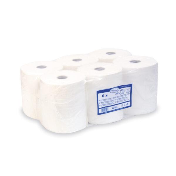 Uteráky tissue, rolované 3-vrstvové 20 cm x 100 m, biele [6 ks]