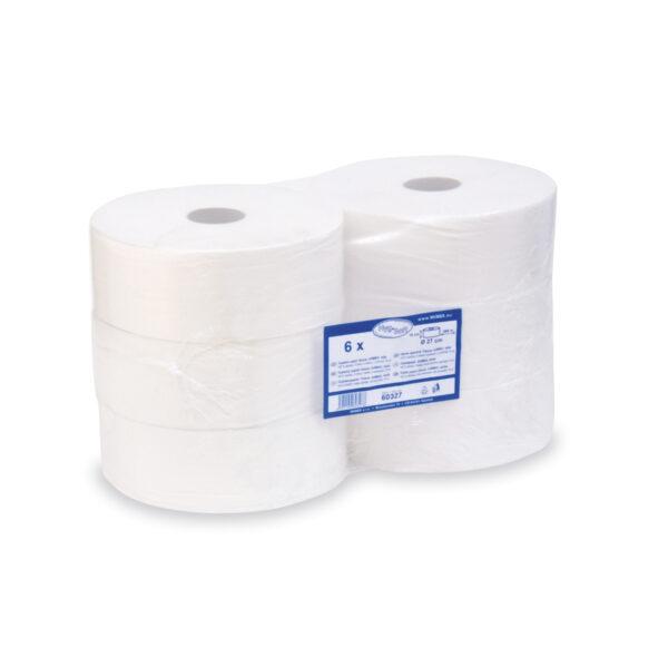Toaletný papier tissue JUMBO 2-vrstvový ø 27cm, biely [6 ks]
