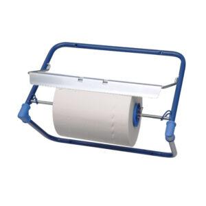 Odvinovač kovový nástenný pre utierky v roli, modrý [1 ks]