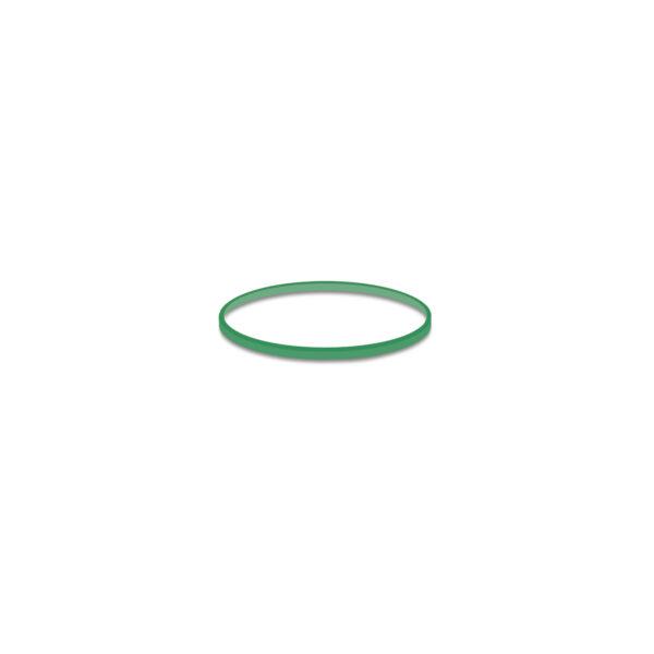 Gumičky zelené slabé (1 mm, ø 4 cm) [1 kg]