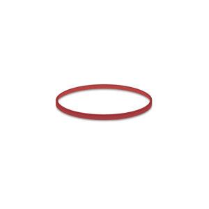 Gumičky červené slabé (1 mm, ø 6 cm) 50 g [1 bal.]