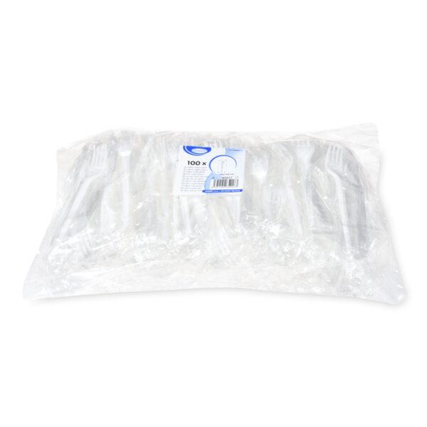 Vidlička biela 16,5 cm hygienicky balená [100 ks]