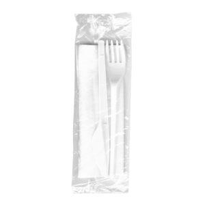 Sada (nôž + vidlička + obrúsok) hyg. balené [100 ks]