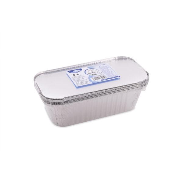 Miska hranatá ALU 1500 ml vrátane viečka [5 ks]