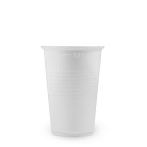Pohár biely 0,2 l (PP) [15 ks]