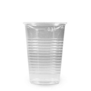 Pohár priehľadný 0,3 l (PP) [10 ks]