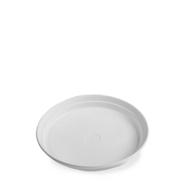 Tanier biely (PP) ø 22 cm [10 ks]