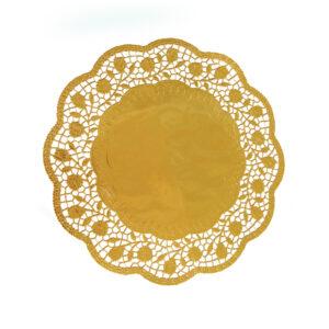 Dekoračné krajky okrúhle, zlaté ø 30 cm [4 ks]