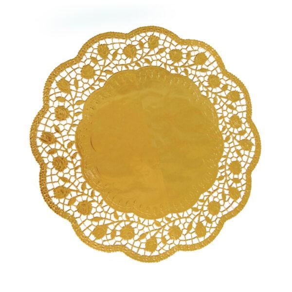 Dekoračné krajky okrúhle, zlaté ø 36 cm [4 ks]