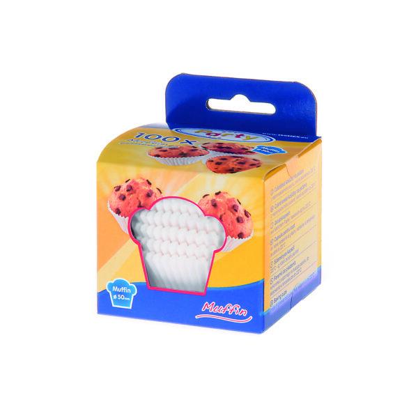 Cukrárenské košíčky biele ø 50 x 30 mm [100 ks]