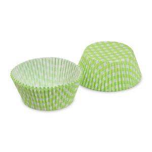 Cukrárenské košíčky KARO zelené ø 50 x 30 mm [40 ks]