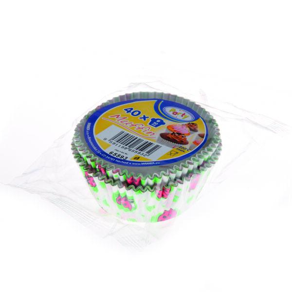 Cukrárenské košíčky lienka ø 50 x 30 mm [40 ks]