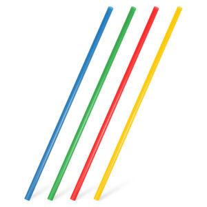 Slamky JUMBO farebné mix 28 cm, ø 7 mm [250 ks]