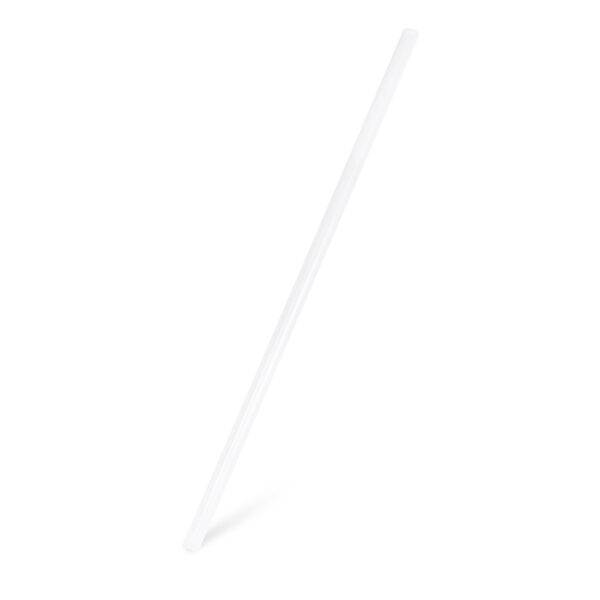 Slamky JUMBO biele 25 cm, ø 8 mm [150 ks]