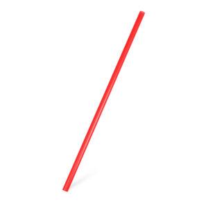 Slamky JUMBO červené 25 cm, ø 8 mm [150 ks]