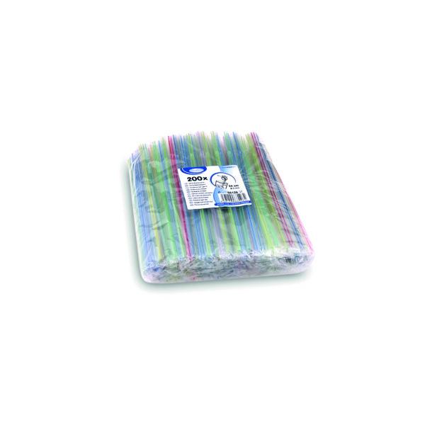 Slamky flexibilné hygienicky balené 24 cm, ø 5 mm [200 ks]