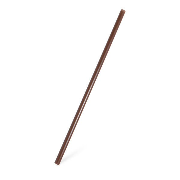 Slamky JUMBO hnedé 25 cm, ø 8 mm [150 ks]