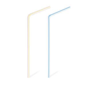 Slamky flexibilné pruhované 21 cm, ø 5 mm [1000 ks]