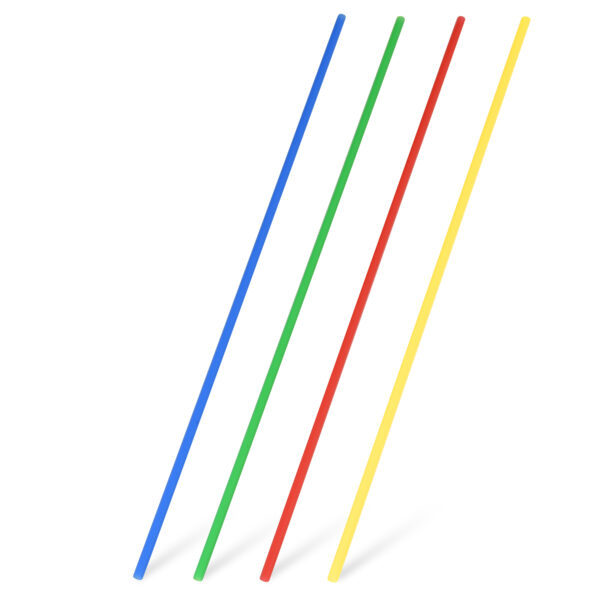 Slamky rovné farebné mix 27 cm, ø 3 mm [100 ks]