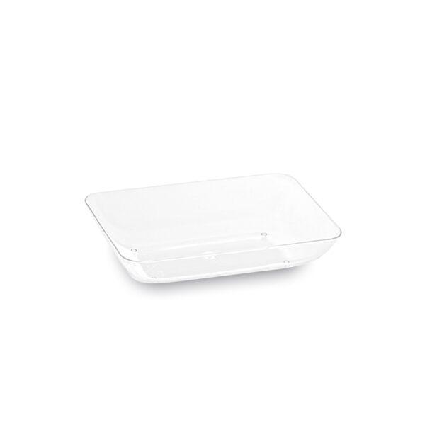 Fingerfood tanierik obdĺžnikový, číry 7,7 x 5,2 x 1,6 cm [50 ks]