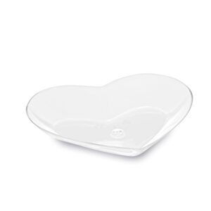 Fingerfood tanierik SRDCE, číry 8,5 x 7,5 x 1,3 cm [25 ks]