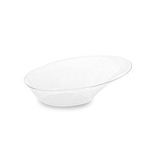 Fingerfood tanierik oválny, číry 9,8 x 7,3 x 3,2 cm [25 ks]