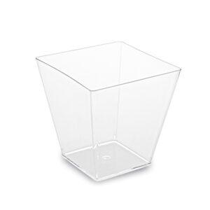 Fingerfood pohárik hranatý, číry 5,9 x 5,9 x 5,4 cm - 100 ml [50 ks]