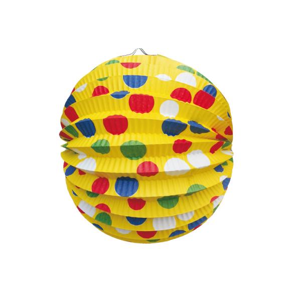 Lampión okrúhly PÁRTY žltý ø 24 cm [1 ks]