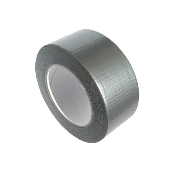 Lepiaca páska s látkou, strieborná 50 m x 48 mm [1 ks]