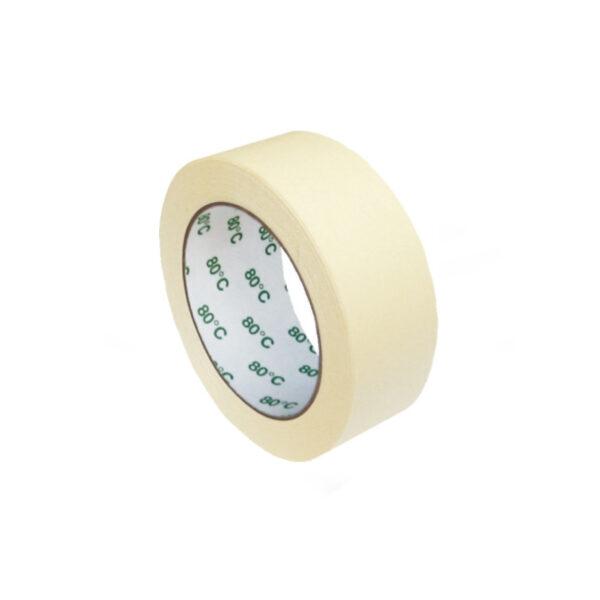 Lepiaca páska krepová, biela 50 m x 38 mm (do +80°C) [1 ks]