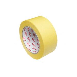 Lepiaca páska krepová, žltá 50 m x 50 mm [1 ks]