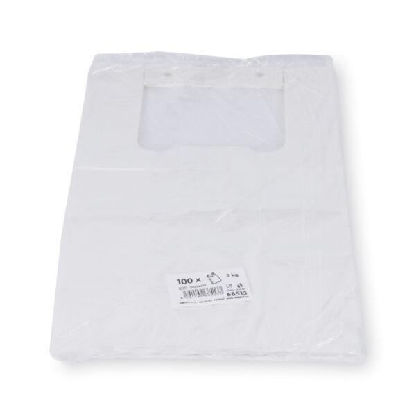 Tašky 3 kg HDPE transparentné (blokované) [100 ks]