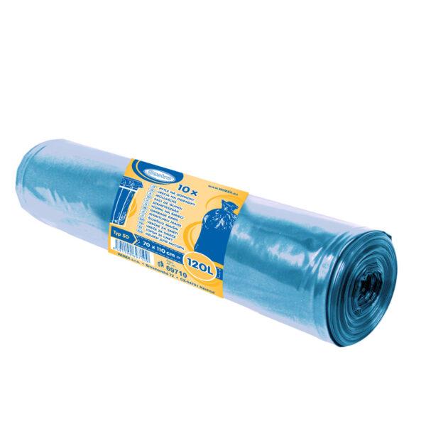 Vrecia na odpadky modré 70x110cm, 120 l, Typ 50 [10 ks]