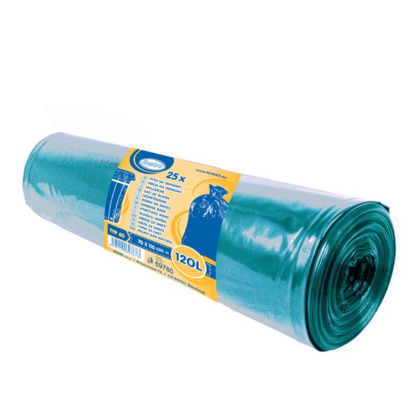 Vrecia na odpadky modré 70x110cm, 120 l, Typ 60 [25 ks]