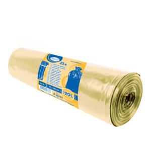 Vrecia na odpadky žlté 70x110cm, 120 l, Typ 60 [25 ks]