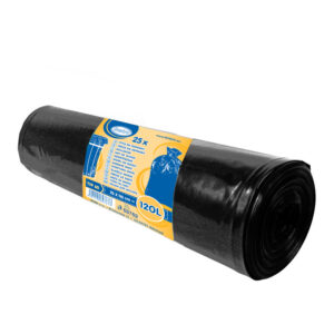 Vrecia na odpadky čierne 70x110cm, 120 l, Typ 60 [25 ks]